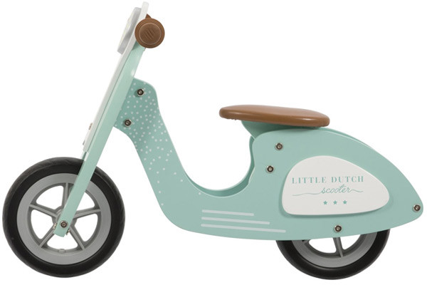 Mintgroene loopscooter van Little Dutch.